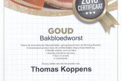 Bakbloedworst [GOUD]
